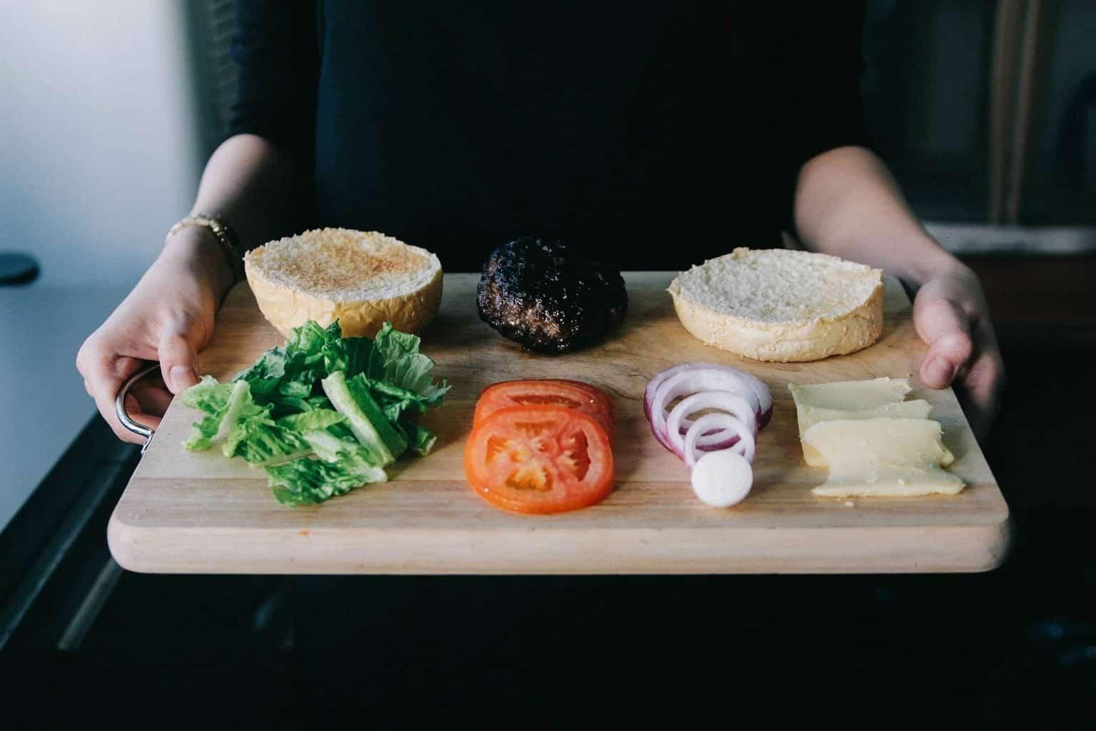 hamburger e carne falsa